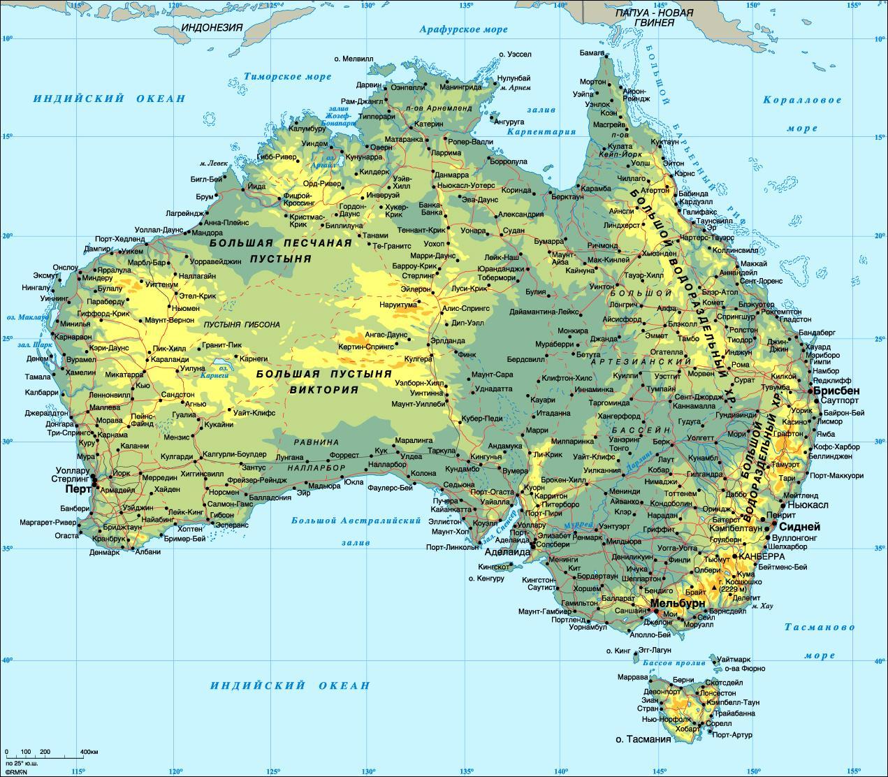 austrlia mapa detalhado