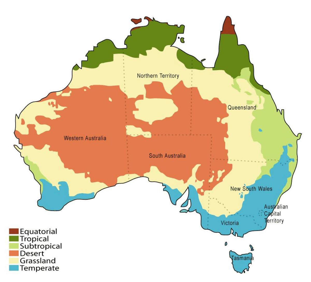 clima mapa da austrlia
